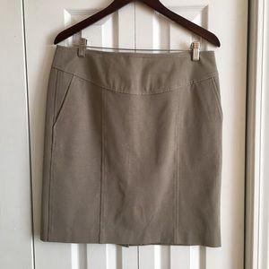 Banana Republic Tan Pencil Skirt